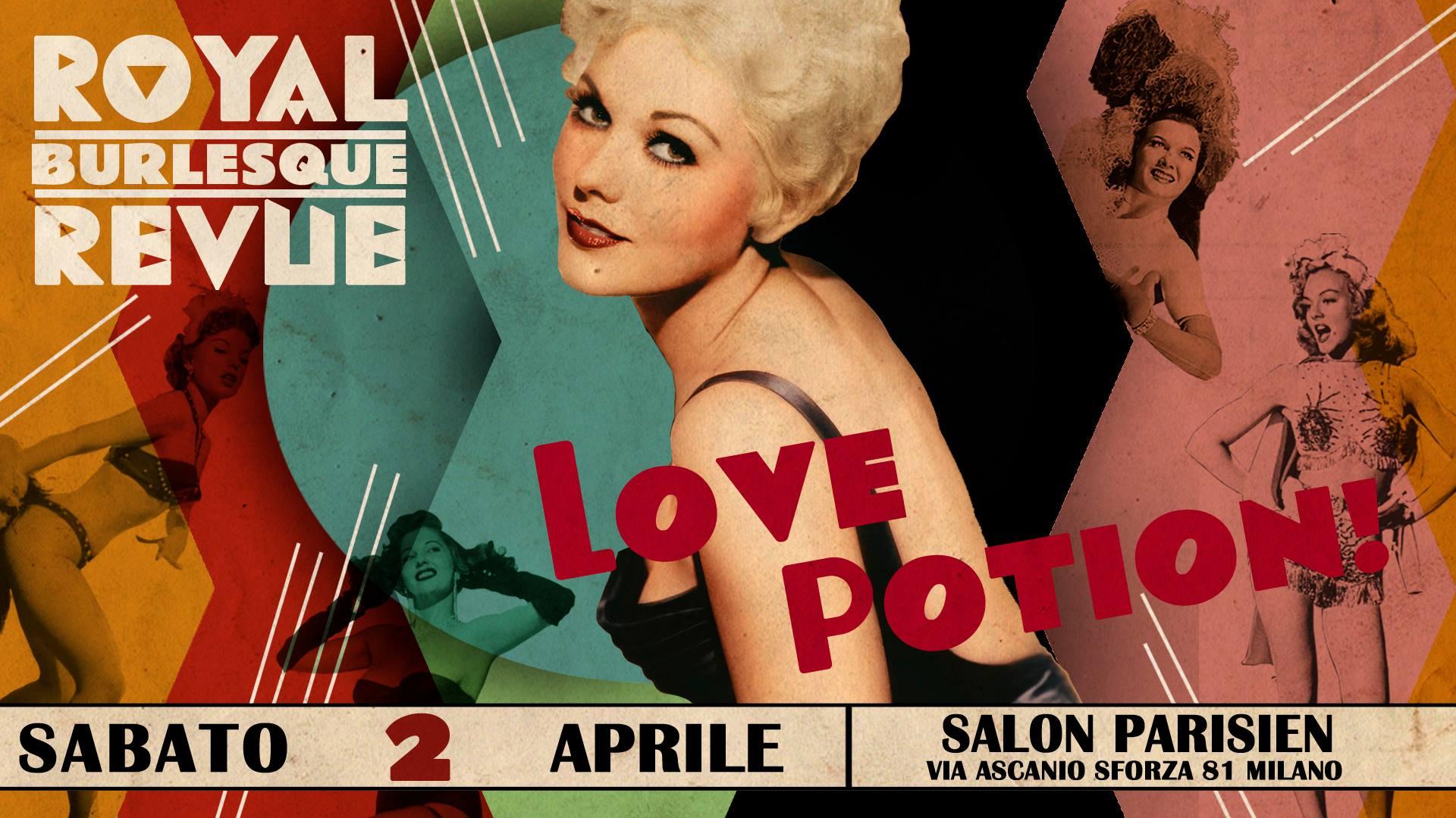 Love poison royale burlesque revue Milano