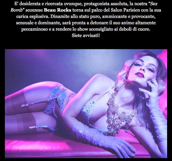 Royal Burlesque revue- Beau Rocks
